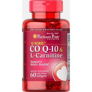 Коэнзим Q-10+L-карнитин, Q-SORB™ Co Q-10 30 mg plus L-Carnitine, Puritan's Pride, 250 мг, 60 капсул