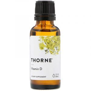 Витамин Д, Vitamin D, Thorne Research, 30 мл. (Default)