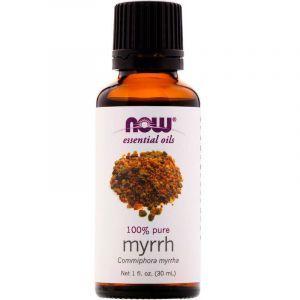 Эфирное масло мирры, Essential Oils, Myrrh, Now Foods, 30 мл
