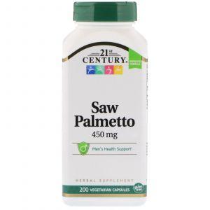 Со Пальметто, Saw Palmetto, 21st Century, экстракт, 200 капсул (Default)