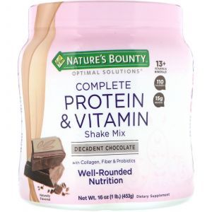 Протеино-витаминная смесь, шоколад, Protein & Vitamin Mix, Nature's Bounty, Optimal Solutions, 453 г (Default)