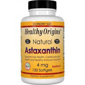 Астаксантин, Astaxanthin, Healthy Origins, 4 мг, 150 гелевых капсул (Default)