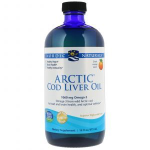 Рыбий жир из печени трески (апельсин), Nordic Naturals, арктический, 437 мл. (Default)
