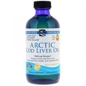Рыбий жир из печени трески, Arctic Cod Liver Oil, Nordic Naturals, апельсин, арктический, 237 мл (Default)