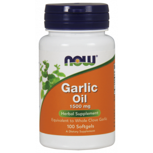 Чесночное масло, Garlic Oil, Now Food, 1500 мг, 100 капсул