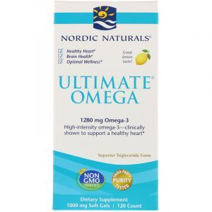 Рыбий жир, Ultimate Omega, Nordic Naturals, со вкусом лимона, 1280 мг, 120 капсул (Default)