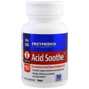 Энзимы, Acid Soothe, Enzymedica, 30 капсул