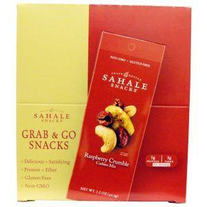Орехи кешью с малиной и клюквой, Cashew Nuts, Sahale Snacks, 9 пак. по 42,5 г