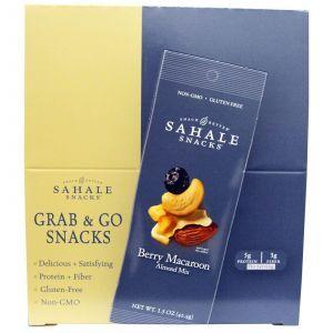 Миндальный микс, Almond Mix, Sahale Snacks, 9 пакетов по 42,5 г