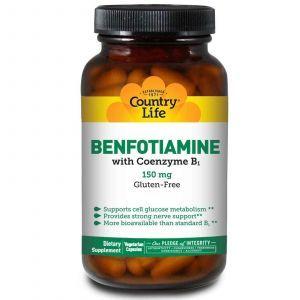 Бенфотиамин c коэнзимным В1, Country Life, 150 мг, 6