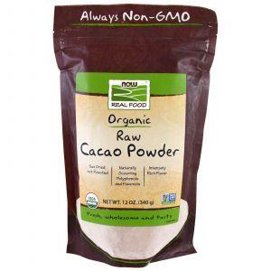 Какао порошок, Cacao Powder, Now Foods, 340 г