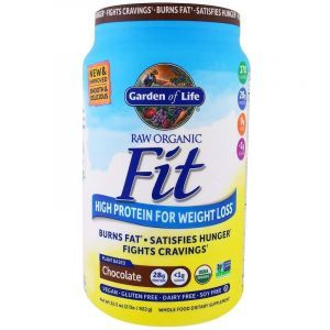 Протеиновый коктейль для снижения веса, Raw Organic Fit, Garden of Life, органик, для веганов, вкус шоколада, 922 г