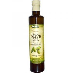 Оливковое масло экстра, Virgin Olive Oil, Flora, органик, 500 мл