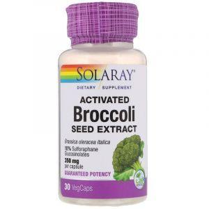 Брокколи, активированный экстракт семян, Broccoli, Solaray, 30 вегетарианских капсул