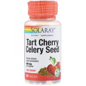 Экстракт вишни и сельдерея, Tart Cherry Celery Seed, Solaray, 60 вегетарианских капсул