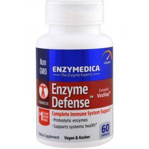 Протеолитические ферменты, Enzyme Defense, Enzymedica, 60 капсул