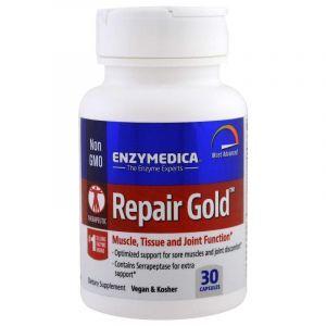Ферменты для мышц, суставов, тканей, Repair Gold, Enzymedica, для веганов, 30 капсул