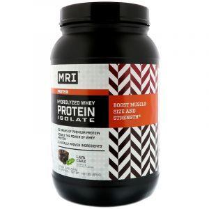 Сывороточный протеин, изолят гидролизованный, Whey Protein Isolate, MRI, шоколадный торт, 875 г