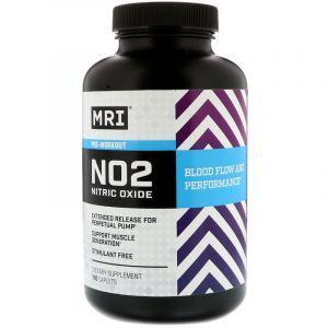 Предтренировочная формула с оксидом азота, NO2 Nitric Oxide, MRI, 180 капсул