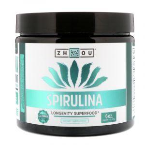 Спирулина, Spirulina, Zhou Nutrition, 170 г