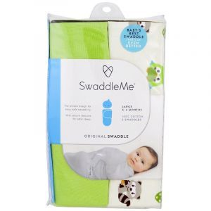 Пеленки для МЛАДЕНЦЕВ 4-6 месяца, Swaddle Me, Original Swaddle, Summer Infant, 2 пеленки (Default)