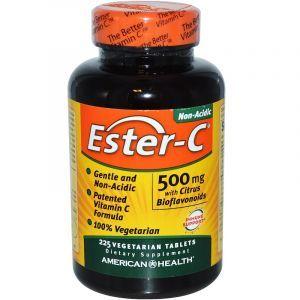 Эстер С с цитрусовыми биофлавоноидами, Ester-C, American Health, 500 мг, 225 таблеток (Default)