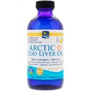 Рыбий жир из печени трески и Д3, Arctic-D Cod Liver Oil, Nordic Naturals, лимон, 237 мл (Default)