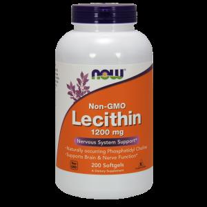 Лецитин, Lecithin, Now Foods, 1200 мг, 200 капсул