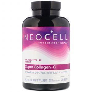 Супер Коллаген, Тип 1 и 3, Collagen + C, Neocell, 6000 мг, 250 таблеток (Default)