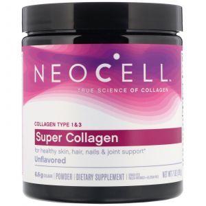 Супер Коллаген, Тип 1 и 3, Collagen, Neocell, 198