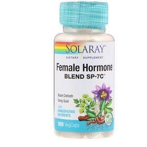 Гормональный баланс женщины, Female Hormone Blend SP-7C, Solaray, 100 кап