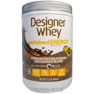 Designer Protein, Designer Whey, Premium Protein Powder, Endurance Blend, Chocolate Velvet, 1.5 lbs (680 g)