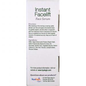 Сыворотка для лица, Instant Facelift Face Serum, Hyalogic LLC, 13,5 мл (Default)