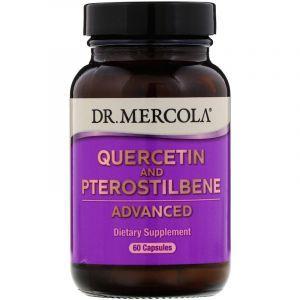 Кверцетин и птеростильбен, Quercetin and Pterostilbene, Dr. Mercola, 60 капсул (Default)