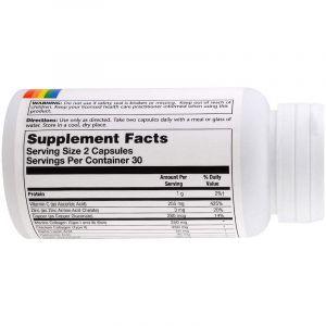 Коллаген и кератин, Collagen Keratin, Solaray, 60 капсул