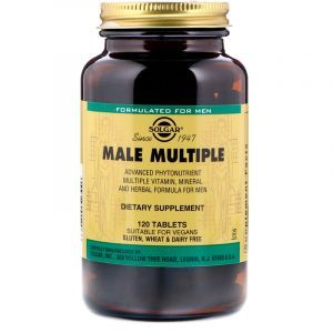 Витамины для мужчин, Male Multiple, Solgar, 120 таб. (Default)
