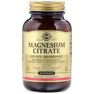 Цитрат магния, Magnesium Citrate, Solgar, 60 таблеток (Default)