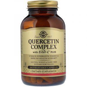 Кверцетин комплекс с эстер-С, Quercetin, Solgar, 100 капсул (Default)
