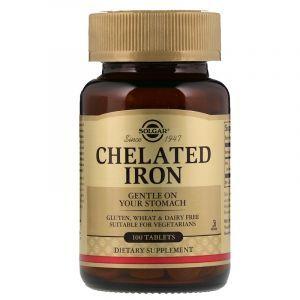 Хелат железа, Chelated Iron, Solgar, 100 таблеток (Default)