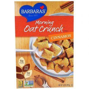 Сухой завтрак, корица, Morning Oat Crunch Cereal, Barbara's Bakery, 397 г