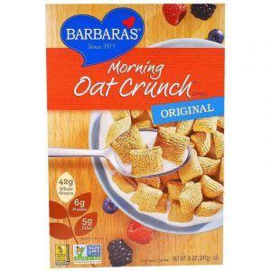 Сухой завтрак, оригинальный, Morning Oat Crunch Cereal, Barbara's Bakery, 397 г