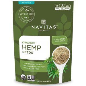 Семена конопли, неочищенные, Hemp Seeds, Navitas Naturals, органик, 227 г