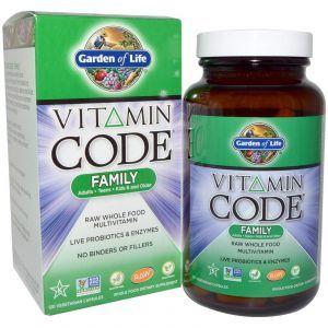 Мультивитамины, Garden of Life, для всей семьи, 120 капсул (Default)