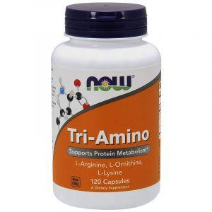 Аргинин, лизин и орнитин, Tri-Amino, Now Foods,120 капсул