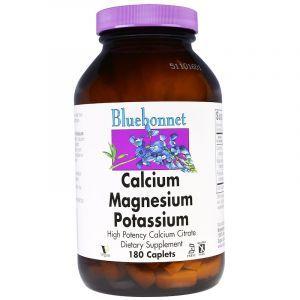 Кальций Магний Калий, Calcium Magnesium Potassium, Bluebonnet Nutrition, 180 капсул (Default)