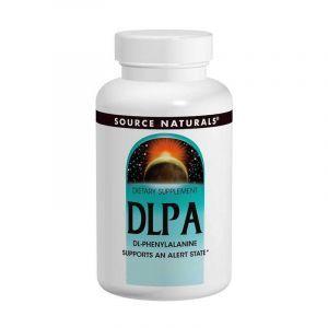 DL-Фенилаланин, DLPA, Source Naturals, 375 мг, 120 таблеток. (Default)