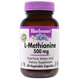 L метионин, L-Methionine, Bluebonnet Nutrition, 500 мг, 30 капсул. (Default)