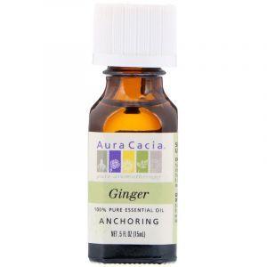Эфирное масло имбиря (Oil Ginger), Aura Cacia, 15 мл (Default)
