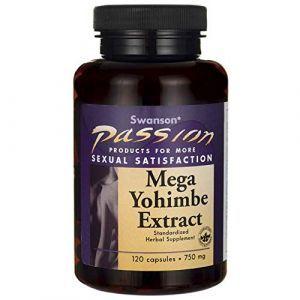 Йохимбе, экстракт, Mega Yohimbe Extract, Swanson, 750 мг, 120 капсул