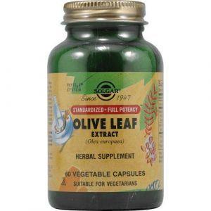 Экстракт листьев оливы, Olive Leaf, Solgar, 450 мг, 60 капсул (Default)